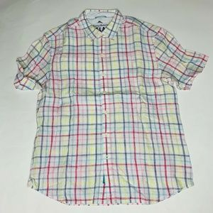 Tommy Bahama Mens Camp Shirt Large Palm Spring New